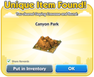 Canyon Park Dialog