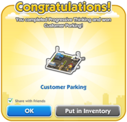 Customer Parking Dialog