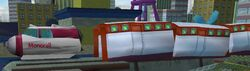 Simpsons hit and run monorail car