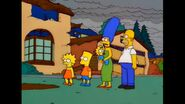 The Simpson House Has Been Destoryed By The Mascots And Statues