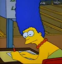 Marge writing