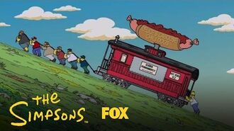 Deuce's Caboose Chili Dog Cart Makes It To The Top Of The Hill Season 28 Ep. 13 THE SIMPSONS