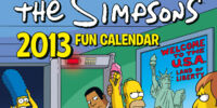 The Simpsons Calendar 2013