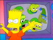 Bart intterupts the Happy Little Elves show