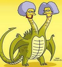 Patty and selma the dragon