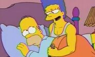 Homer and Marge sleeping