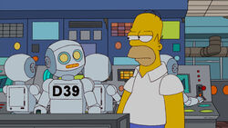 Simp Homer With Robot 01142118