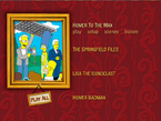 The Dark Secrets of the Simpsons Menu 1