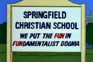 The one school sign