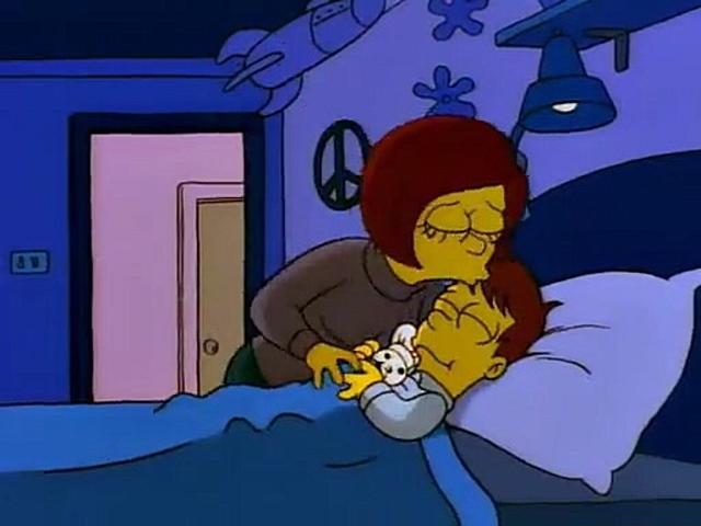 File:Mona's kisses Homer sadly befofe departing.PNG