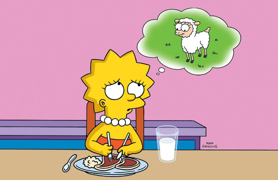 Resultado de imagem para Lisa Simpson vegetariana