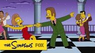 """Ned & Edna from """"The Man Who Grew Too Much"""" THE SIMPSONS ANIMATION on FOX"""