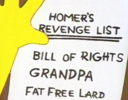 Homer's Revenge List