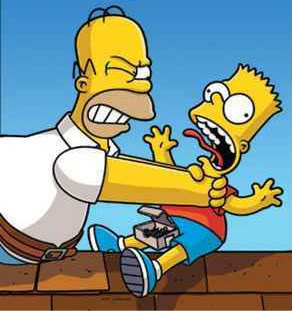 Homer choking bart