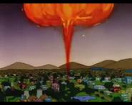 HomerCreatesAGasExplosionVisibleFromTheCityLimits