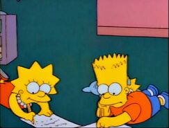 Bart and Lisa writing letters to Santa