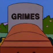 The Simpsons Frank Grimes Grimey Tombstone in Homer's Enemy