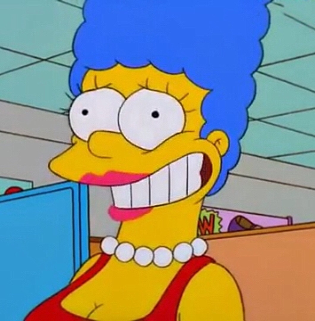 image marge weird looking smile jpg simpsons wiki