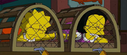 Lisa and Juliet In Cages