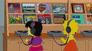 Lisa and Tumi listening to Jazz