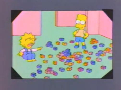 File:Lisa and Bart young in a photo in And Maggie Makes Three.png