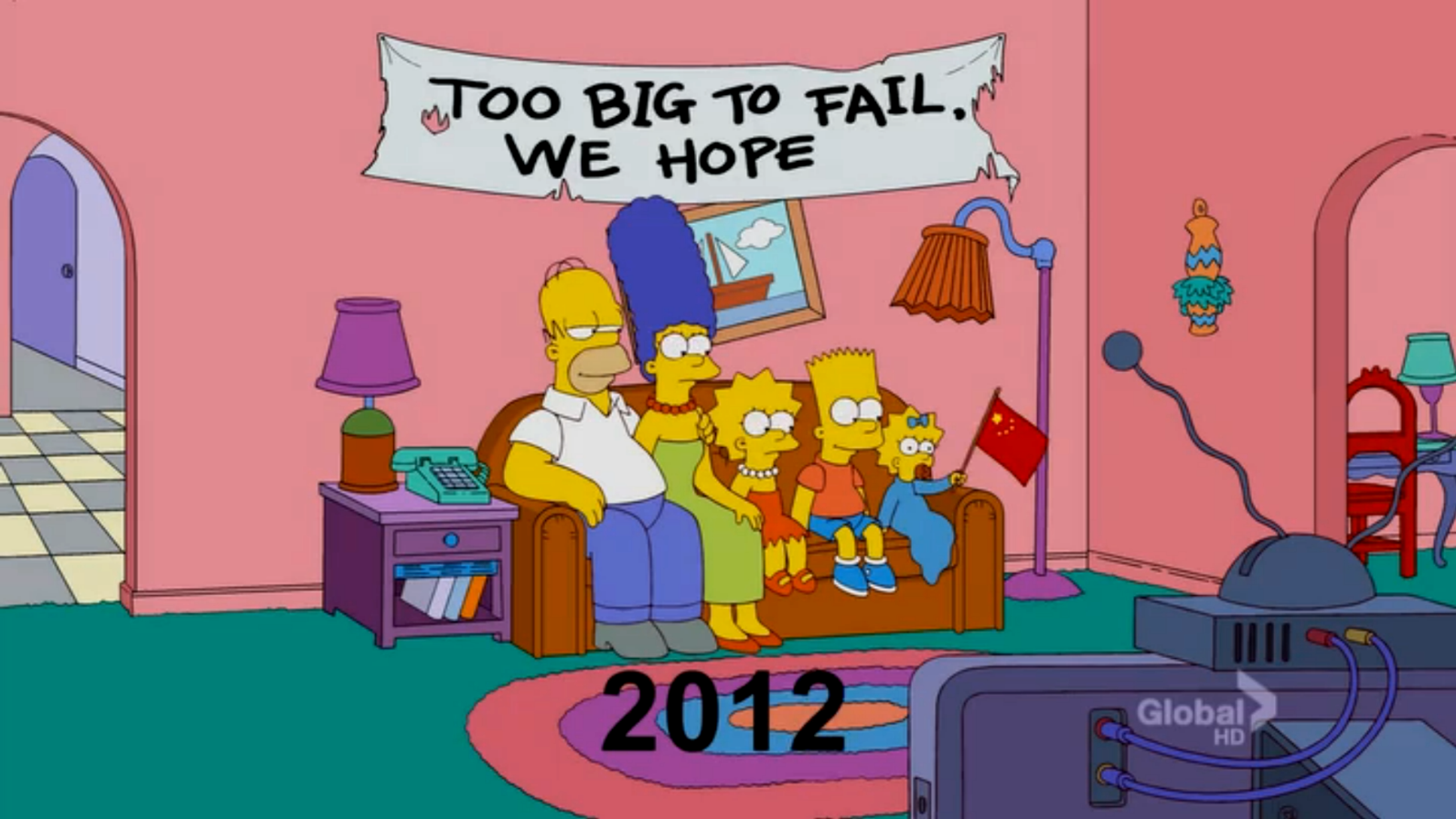 The Simpsons, «Them, Robot», «Too big to fail»