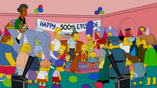 False Alarm 500th Episode Couch Gag