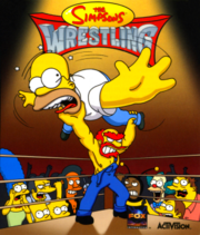 The Simpsons Wrestling Coverart