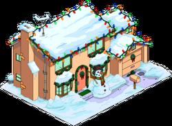 Christmas Simpsons Home Snow Menu