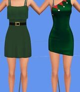Fanon The Sims 4 Christmas Collection Elf Dress