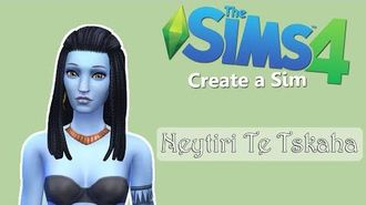 The Sims 4 Create a Sim Neytiri Te Tskaha