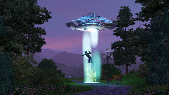 Alien Abduction In The Sims 3