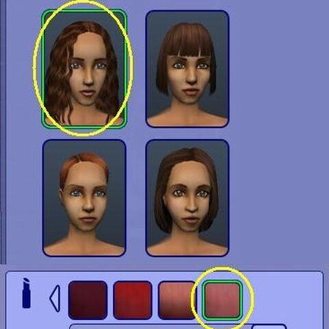 Esta barra de labios se oculta en el juego sólo se puede acceder en CAS.
