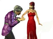 Bella and Mortimer (The Sims Bustin'Out)