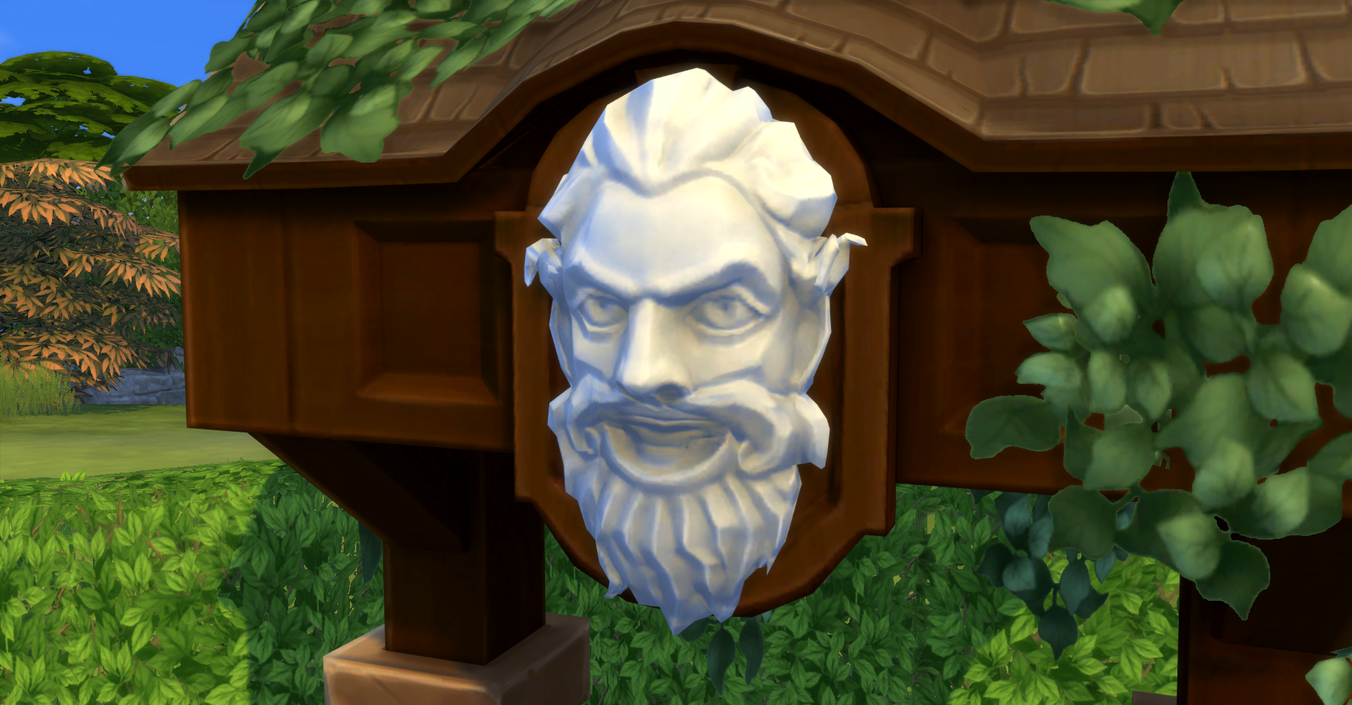 Wishing well lawn ornament - File Whispering Wishing Well Angry Face Png