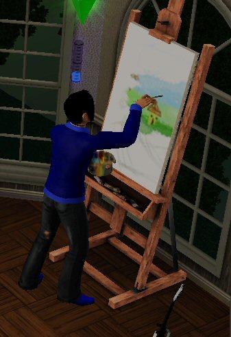 Zin om gepromoveerd te worden tot dokter door heel veel te schilderen!!!!