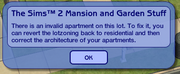 Ts2 custom apartment gg - error in apartment finalization