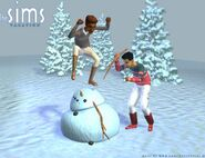 Sims1VacationKillingSnowman