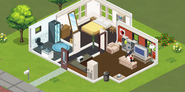 Bella goth´s home in the sims social