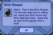 Cranky Grim Reaper message