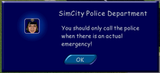 TS Police Warning dialog