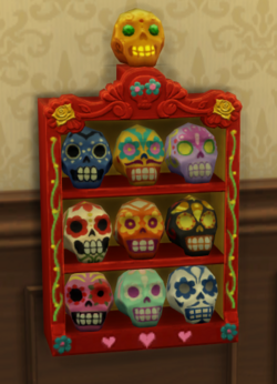 Sugar Skulls in display case