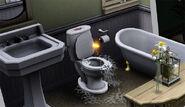 Fairy repairing toilet