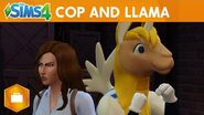 The Sims 4 Get to Work Cop and Llama