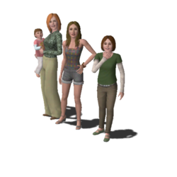 Single Moms Household Family (The Sims 3)