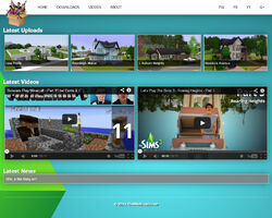 Website the sims supply screen
