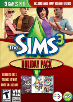The Sims 3 Holiday Pack Cover