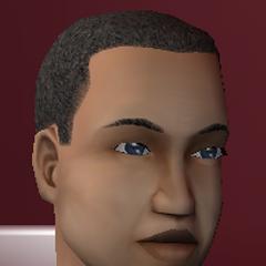 Este pelo está presente en el juego, pero no en esta coloración grisácea.