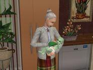 Nanny feeding an alien