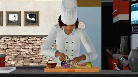The Sims 3 Meet Saffron, clumsy chef